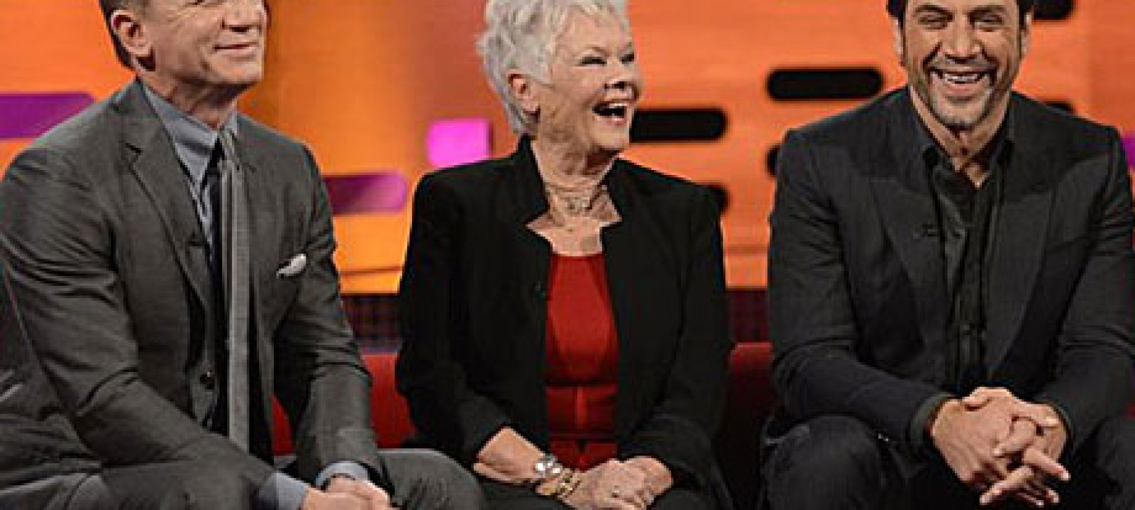 Daniel Craig, Judi Dench and Javier Bardem on The Graham Norton Show