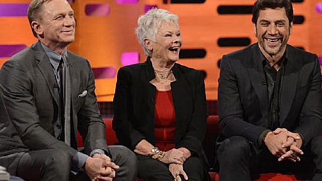 Daniel Craig, Judi Dench and Javier Bardem on The Graham Norton Show