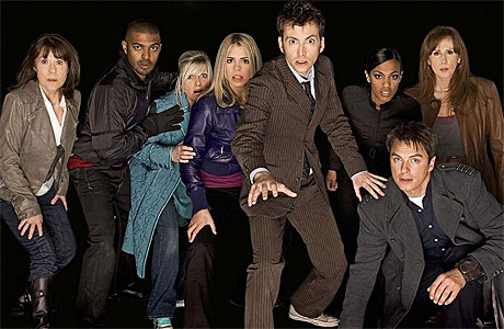The Tenth Doctor and friends