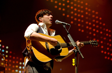 Mumford & Sons scored six Grammy nominations last night, including Album of the Year. (Rex Features via AP Images)