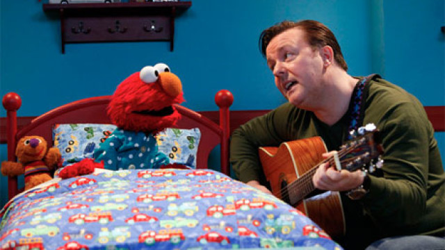 Ricky Gervais and Elmo