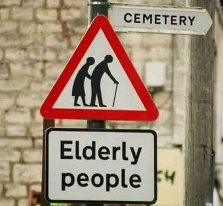 Image result for watch out for elderly people sign