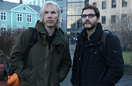 Benedict Cumberbatch as Julian Assange (and Daniel Bruhl) in 'The Fifth Estate'