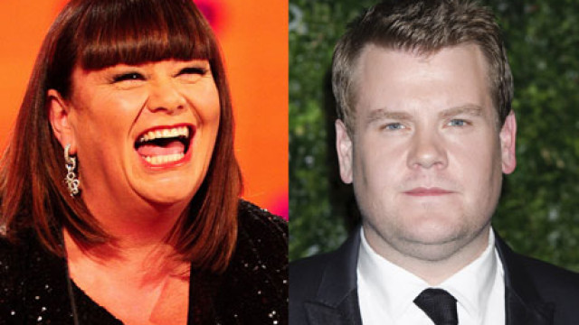 Dawn French and James Corden