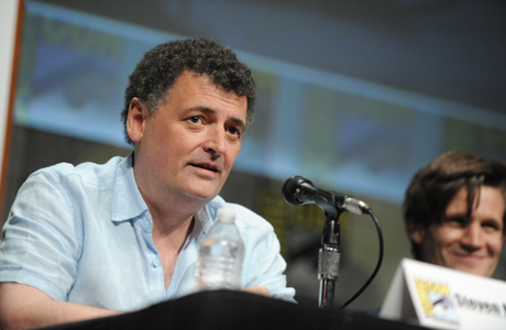 Steven Moffat at Comic-Con 2012. (Photo by Jordan Strauss/Invision/AP)
