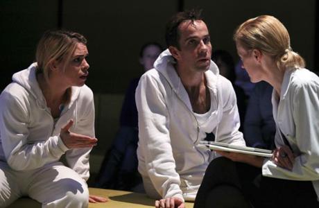 Billie Piper, Jonjo O'Neill and Anastasia Hille in 'The Effect.' (Photo: Ellie Kurtz.)