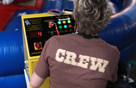... or did he? It may have been this crew member manning the controls?
