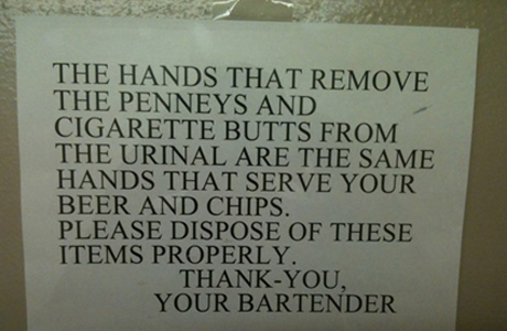 Butts and Chips Sign