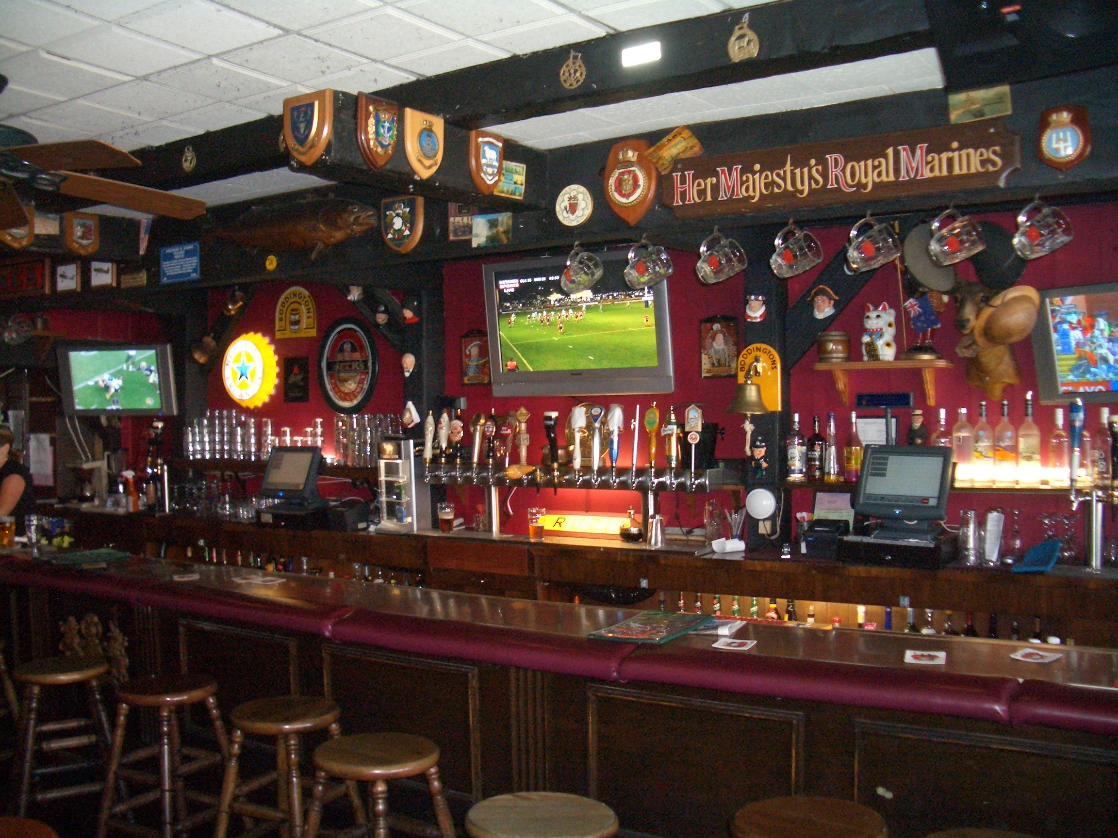 The front bar at the Ye Olde King's Head pub. (Photo by Donal Tavey)