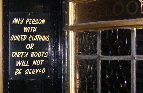 London Pub Warning Sign