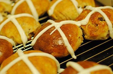 Some hot cross buns