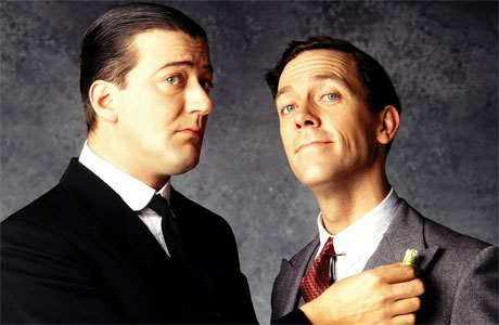 Stephen Fry and Hugh Laurie in the TV adaptation of the Jeeves and Wooster stories (by PG Wodehouse)
