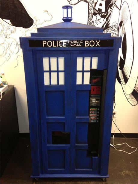 TARDIS vending machine
