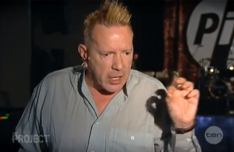 John Lydon on the Australian TV show 'The Project' (Photo: YouTube)