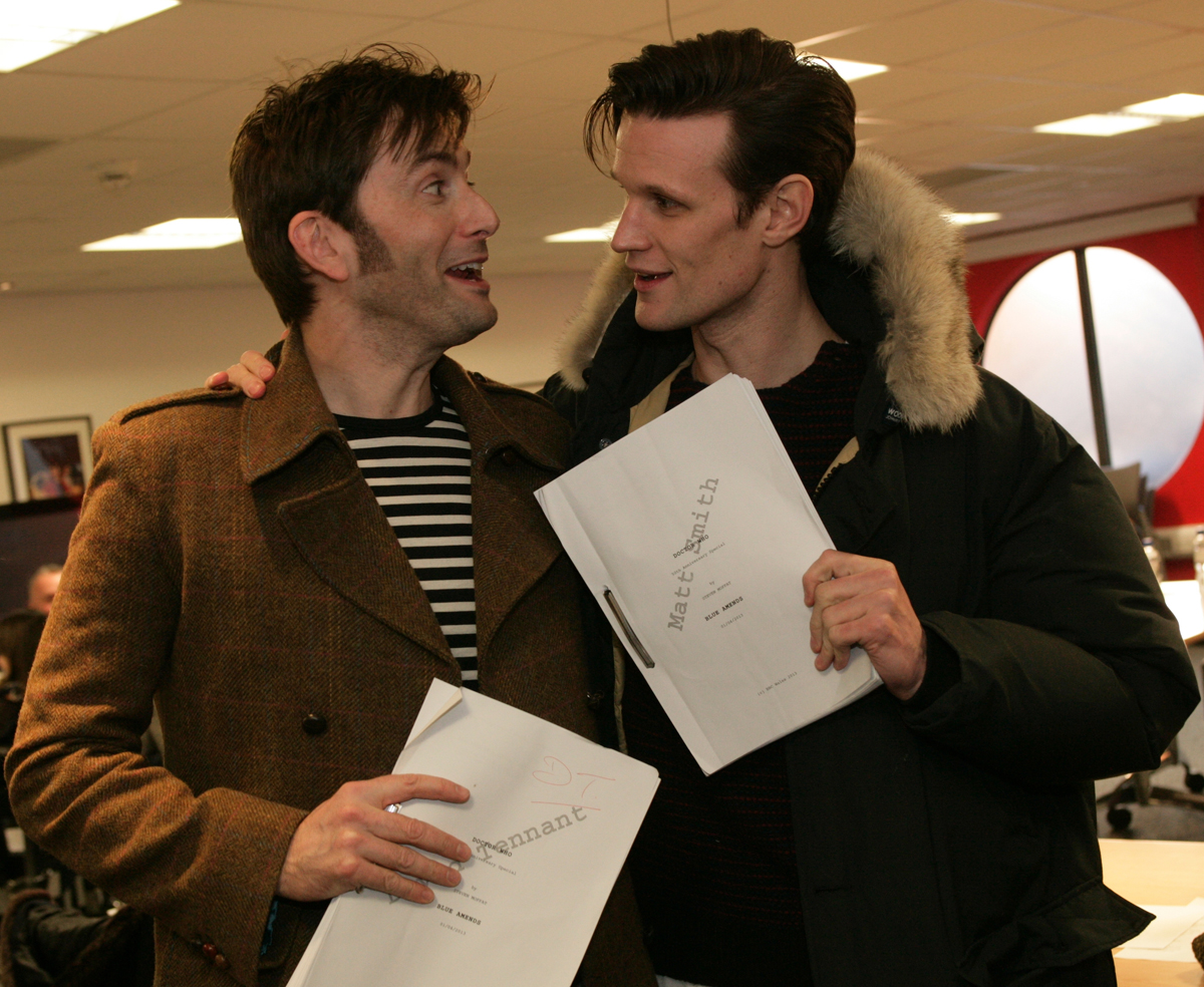 David Tennant and Matt Smith.