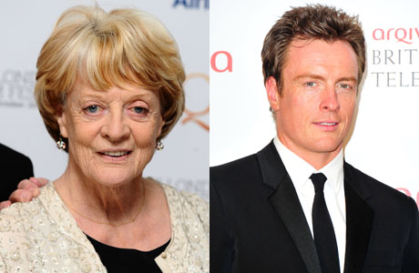 Left to Right: Dame Maggie Smith (Ian West/PA Wire) and her son Toby Stephens (Jon Furniss/Invision/AP)