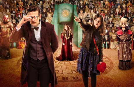 The Doctor and Clara at the Festival of Offering