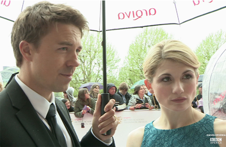 'Broadchurch' stars Andrew Buchan and Jodie Whittaker at the BAFTA TV awards on May 12, 2013. (Photo: BBC AMERICA)