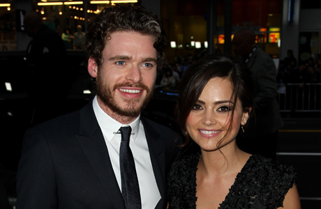 Richard Madden and Jenna-Louise Coleman at the 'Game of Thrones' premiere in March 2013. (Photo: Matt Sayles /Invision/AP)