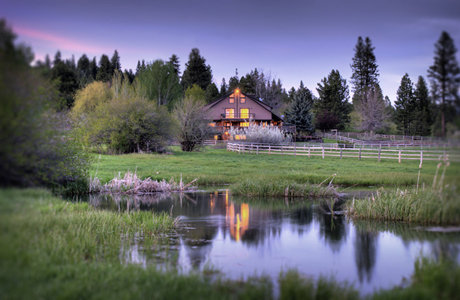 A rustic getaway in Idaho. (7 Devil's Lodge)
