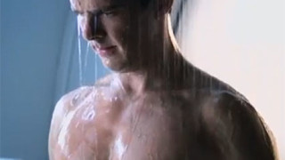 Benedict Cumberbatch takes a shower