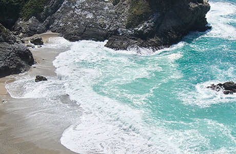 A beach in the Julia Pfeiffer Burns State Park. (California Department of Parks and Recreation)