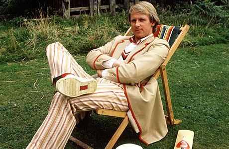 Peter Davison as the Fifth Doctor
