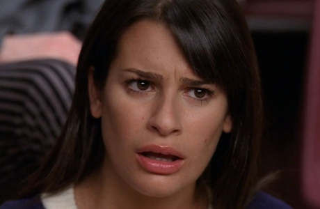 If you're British in America, you're very familiar with the 'WTF?' face, as displayed here by Lea Michele from 'Glee.' (Photo: Fox)