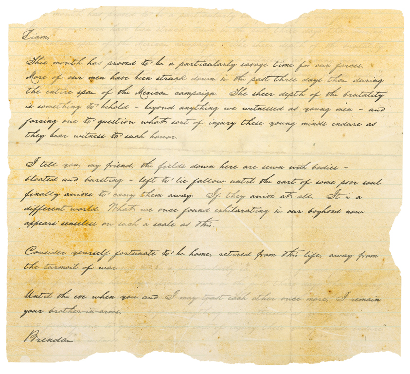 Unearthed Civil War Letters Brendan Donovan Copper