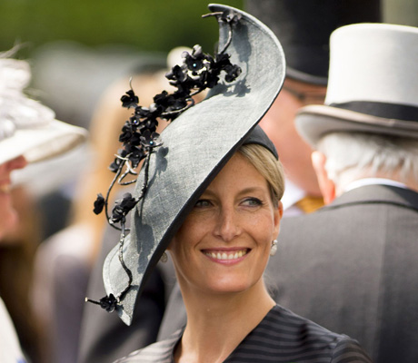 Sophie Countess Of Wessex dons a slick look. (AP)