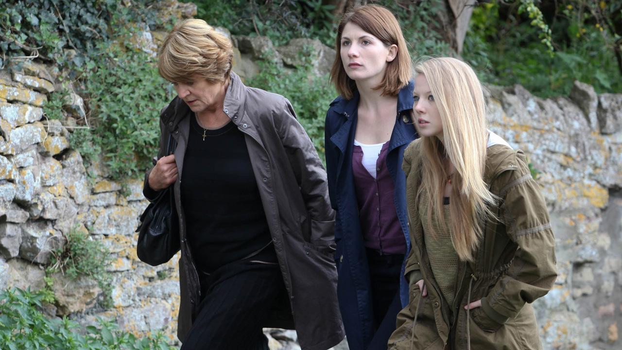 Beth's mom, Liz, and her daughter, Chloe, take a walk.