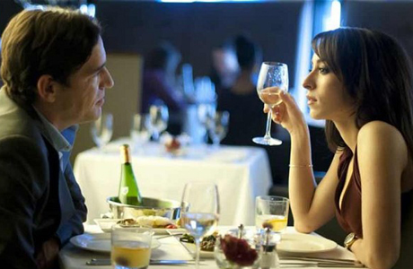 Ben Chaplin and Oona Chaplin, we're assuming no relation, are on a first date in Dates. (CH4)