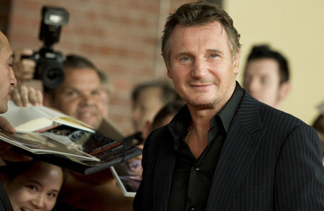 Liam Neeson on the red carpet. (AP)