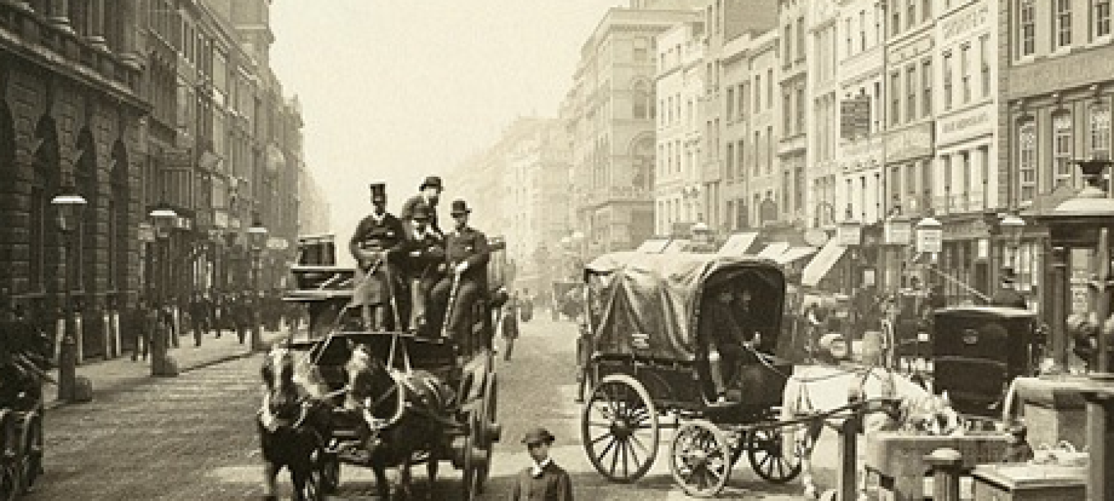 London, Horse and Carriage, Somerset House, 1890 copy