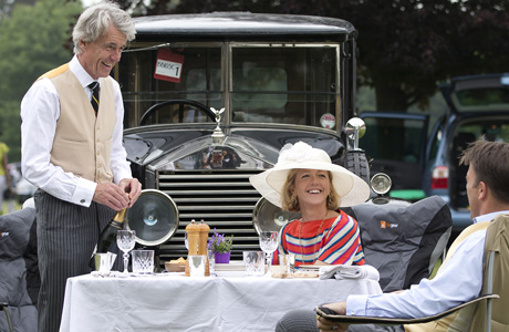A car park picnic is the Brits version of tailgating. (AP)