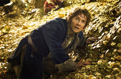 Bilbo spies something unpleasant in 'The Desolation of Smaug'