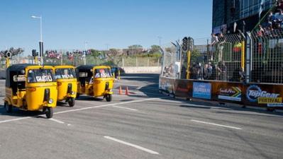 Three-wheeled race (TopGear.com)