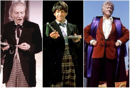 The first three Doctors: