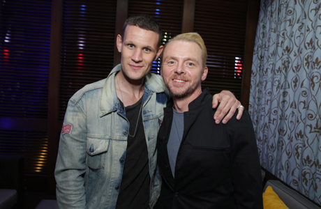 Matt Smith (left) hanging with Simon Pegg at the Comic-Con party for Pegg's movie 'The World's End.' (Photo by Eric Charbonneau/Invision for Focus Features/AP Images)