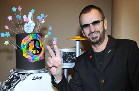 Ringo Starr on his birthday back in 2012.  (Photo: Rob Shanahan/AP)