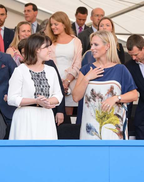 Princess Eugenie and Zara Phillips in the royal box. (Photo: Press Association via AP Images)