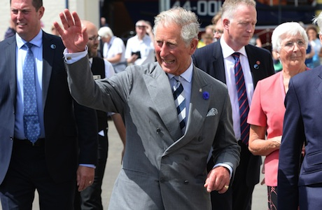 Prince Charles Prince Charles visits the Historic Dockyard at Chatham, Kent, Britain - 29 Jul 2013 HRH Prince Charles the Prince of Wales (with The Duchess of Cornwall) visits the Historic Dockyard at Chatham, marking his first visit since he announced his patronage of Chatham Historic Dockyard Trust in April. (Rex Features via AP Images)