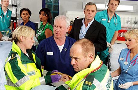 It's all hands on deck in BBC's Casualty. (BBC)
