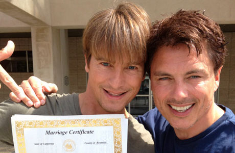 Mr and Mr: John Barrowman and Scott Gill