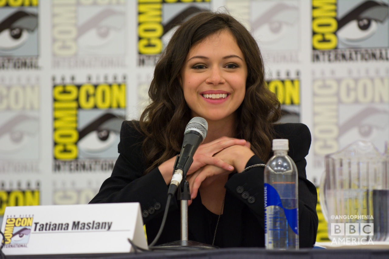 'Orphan Black' star Tatiana Maslany at the series' first-ever San Diego Comic-Con panel. (Photo: Dave Gustav Anderson)