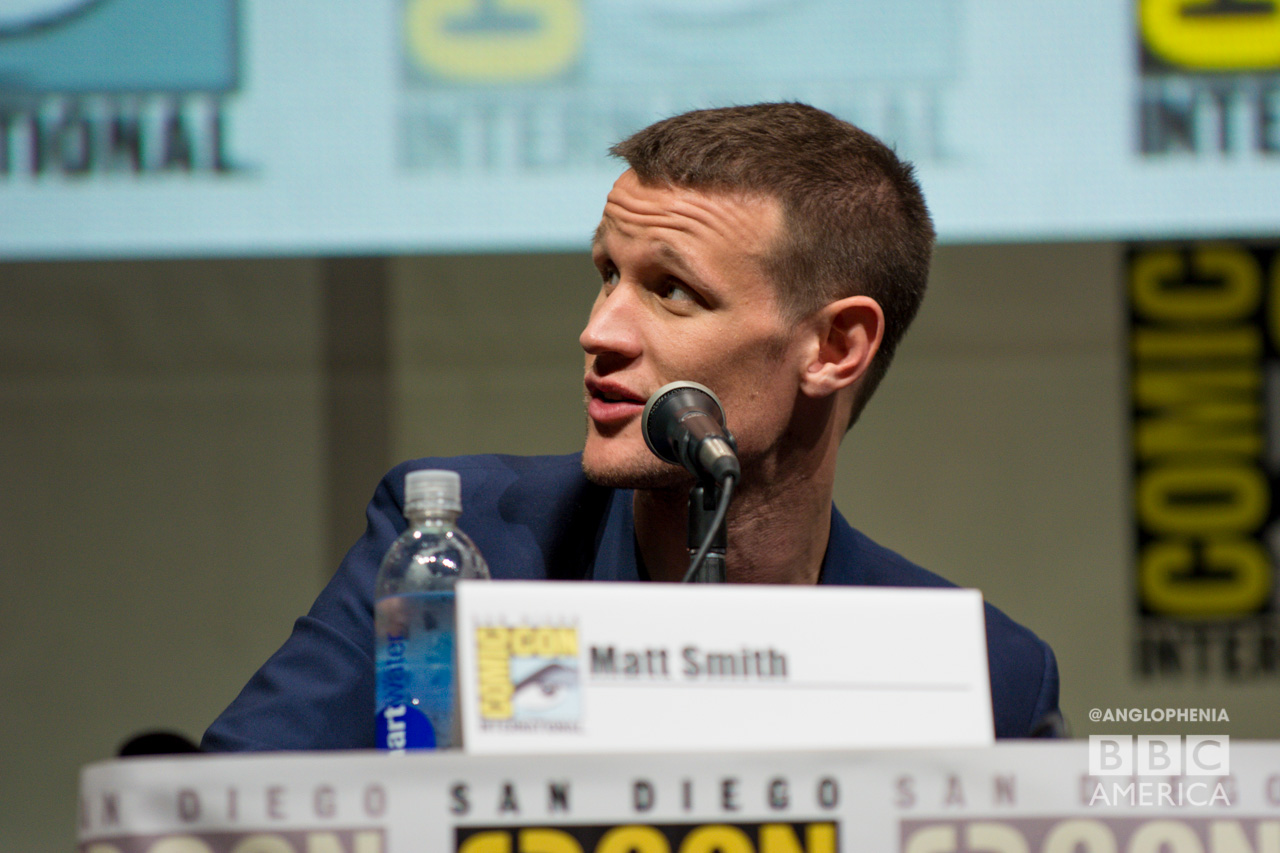 Matt Smith at the 'Doctor Who' 50th anniversary panel. (Photo: Dave Gustav Anderson)