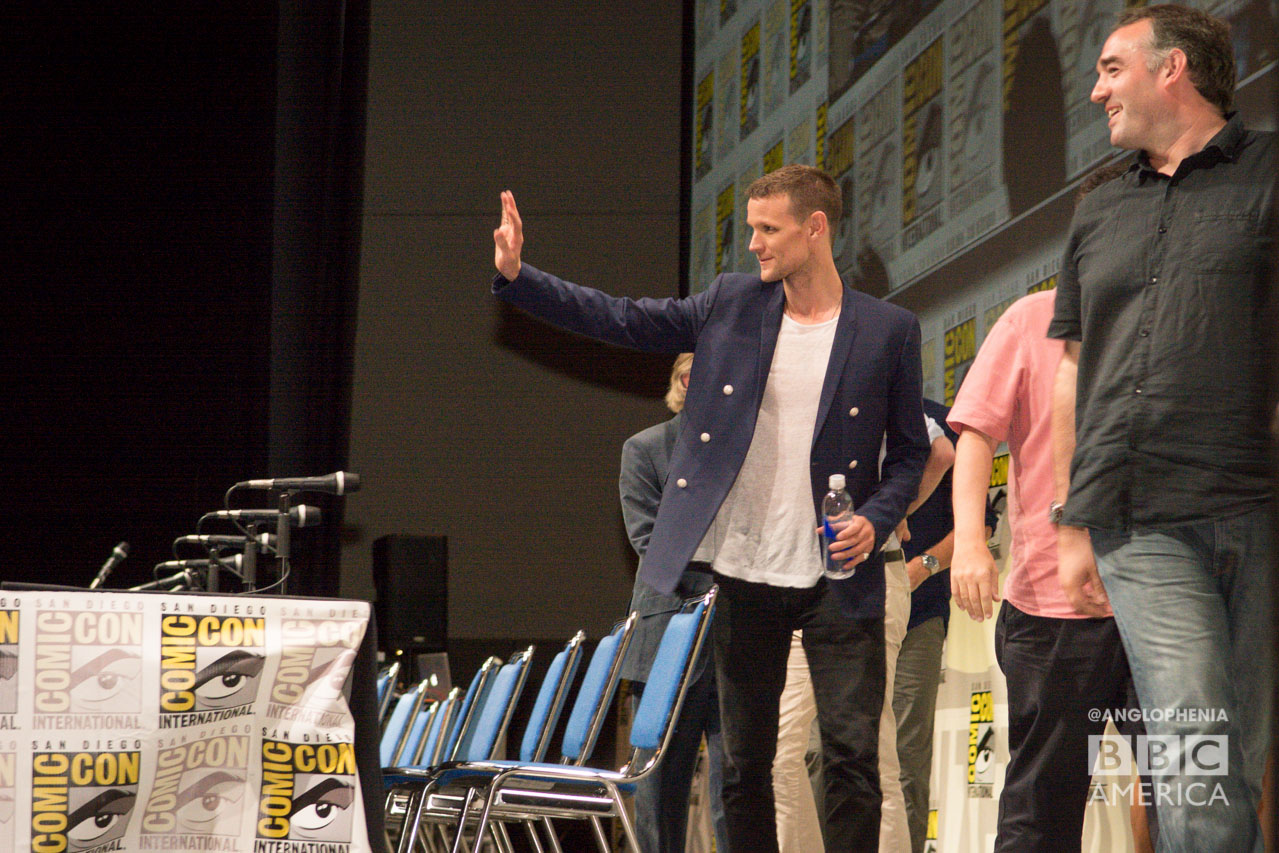 Matt Smith says good-bye to his fans at Comic-Con. (Photo: Dave Gustav Anderson)