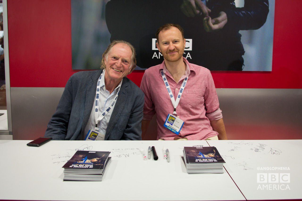 David Bradley (left) and Mark Gatiss at the signing for BBC AMERICA's 'An Adventure in Space and Time' (Photo: Dave Gustav Anderson)