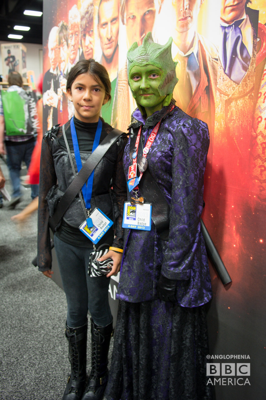 'I am a lizard woman from the dawn of time. And this is my wife.' Jenny and Lady Vastra 'Doctor Who' cosplay. (Photo: Dave Gustav Anderson)