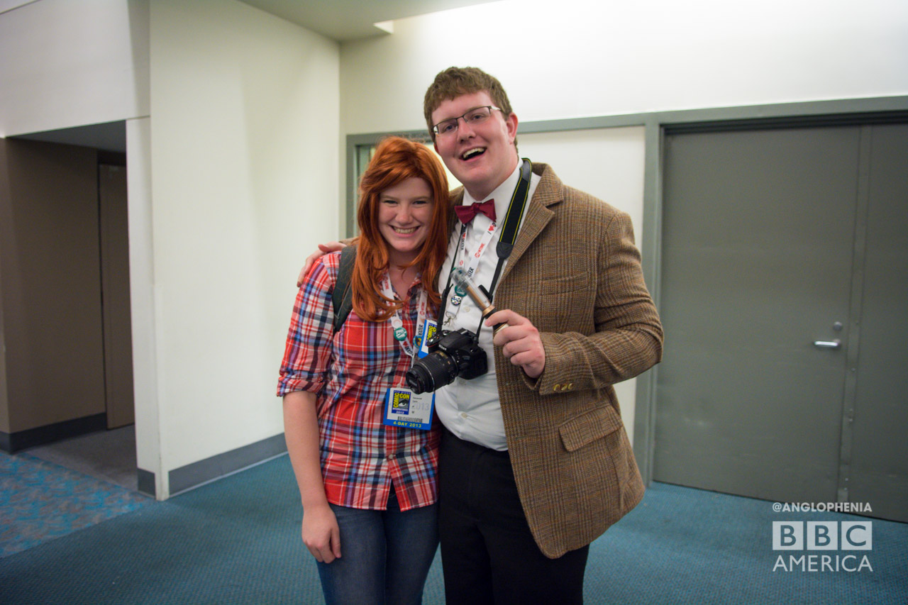 Amy Pond and Eleventh Doctor cosplayers. (Photo: Dave Gustav Anderson)